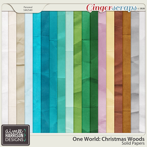 Christmas Woods Solid Papers by Aimee Harrison