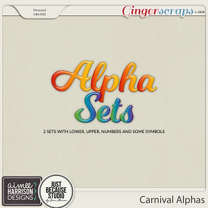Carnival Alpha Sets by Aimee Harrison and JB Studio
