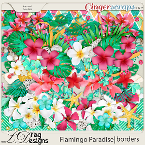 Flamingo Paradise: Borders by LDragDesigns