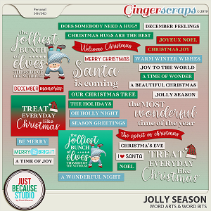 Jolly Season Wordarts & Wordbits by JB Studio