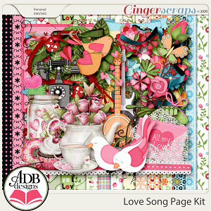 Love Song Page Kit by ADB Designs