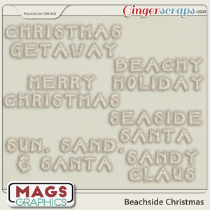 Beachside Christmas WORD ART by MagsGraphics