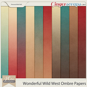 Wonderful Wild West Ombre Papers by JoCee Designs