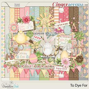 To Dye For Digital Scrapbook Kit by Dandelion Dust Designs