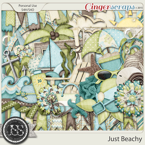 Just Beachy Digital Scrapbooking Kit