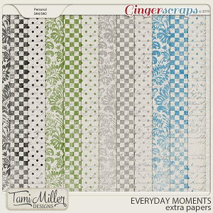 Everyday Moments Extra Papers by Tami Miller Designs