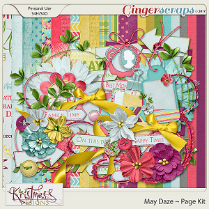 May Daze Page Kit