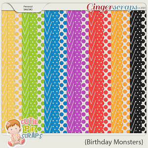 Birthday Monsters Pattern BG