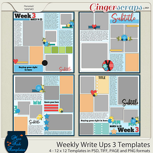 Weekly Write Ups 3 Templates by Miss Fish