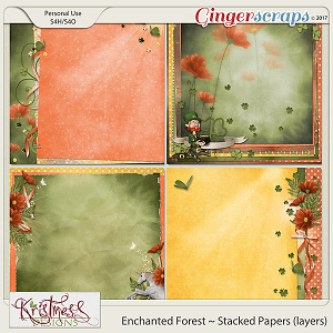 Enchanted Forest Stacked Papers (layers)
