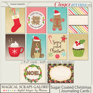 Sugar Coated Christmas (journaling cards)