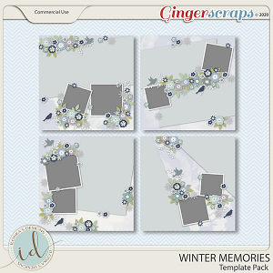 Winter Memories Template Pack by Ilonka's Designs