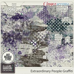Extraordinary People Graffiti by Aimee Harrison and JB Studio
