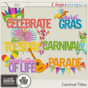 Carnival Titles by Aimee Harrison and JB Studio