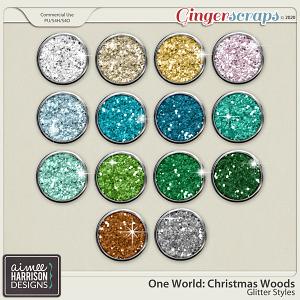 Christmas Woods Glitters by Aimee Harrison