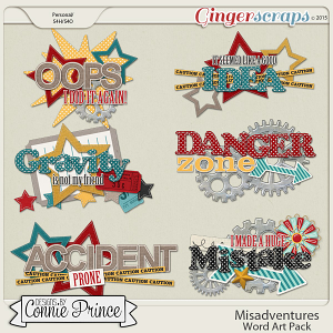 Misadventures - Word Art Pack