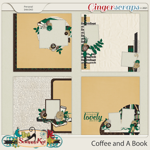 Coffee & A Book Quick Pages by The Scrappy Kat