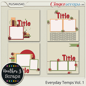 Everyday Templates VOLUME 1 by Heather Z Scraps