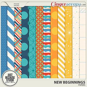 New Beginnings Papers by JB Studio