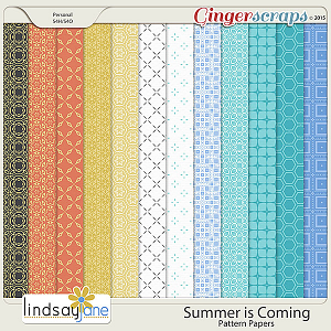 Summer is Coming Pattern Papers by Lindsay Jane