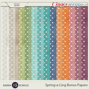 Spring-a-Ling Bonus Papers by Snickerdoodle Designs