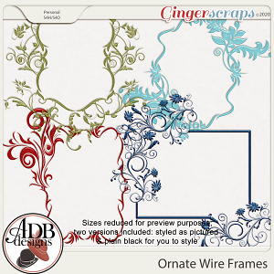 Heritage Resource - Ornate Wire Frames by ADB Designs