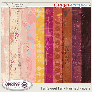 Fall Sweet Fall - Painted Papers