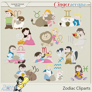 Doodles By Americo: Zodiac Cliparts
