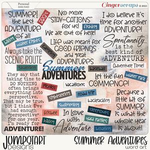 Summer Adventures {Word Art}