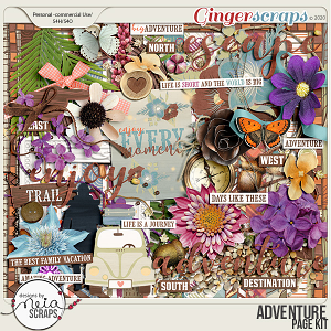 Adventure - Page Kit - by Neia Scraps