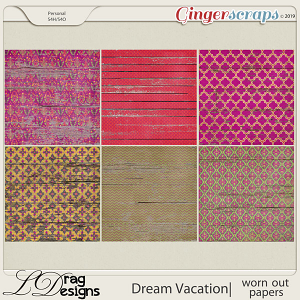 Dream Vacation: Worn Out Papers by LDragDesigns