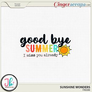 Sunshine Wonders Free Wordart by JB Studio