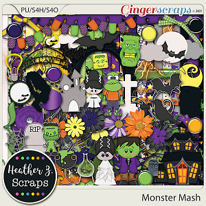Monster Mash KIT by Heather Z Scraps