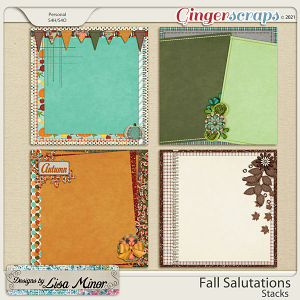 Fall Salutations Stacks from Designs by Lisa Minor