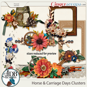 Horse & Carriage Days Clusters by ADB Designs