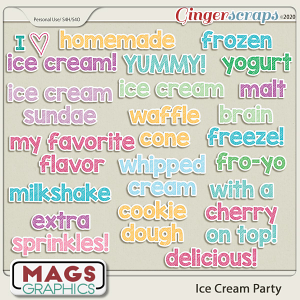 Ice Cream Party STICKERS by MagsGraphics