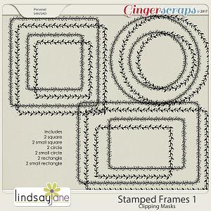 Stamped Frames 1 by Lindsay Jane