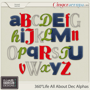 360°Life All About December Alpha Sets by Aimee Harrison