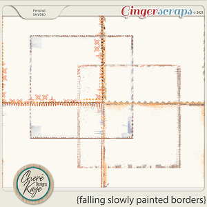 Falling Slowly Painted Borders by Chere Kaye Designs