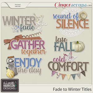 Fade to Winter Titles by Aimee Harrison