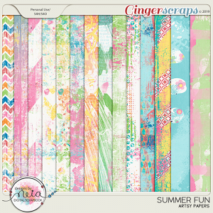 Summer Fun - Artsy Papers - by Neia Scraps