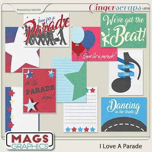 I Love A Parade JOURNAL CARDS by MagsGraphics