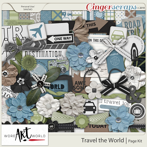 Travel the World Page Kit