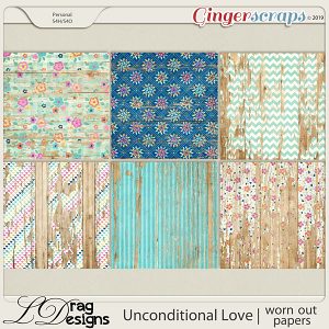 Unconditional Love: Worn Out Papers by LDragDesigns
