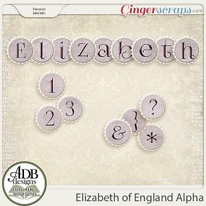 Elizabeth Alpha {DOTW England} by ADB Designs
