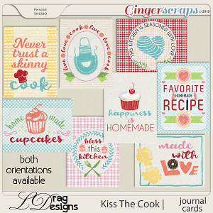 Kiss The Cook: Journal Cards by LDragDesigns
