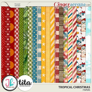 Tropical Christmas Papers by JB Studio and Tita