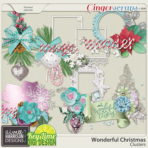 Wonderful Christmas Clusters by Aimee Harrison and Key Lime Digi Design