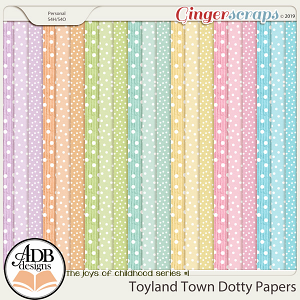 Toyland Town Dotty Papers by ADB Designs
