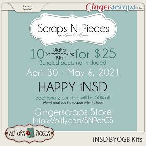 10 kits for $25 iNSD 2021- Scraps N Pieces